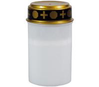 LED-Grabkerze, 12 cm, weiß