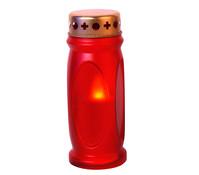 LED Grabkerze 14cm, rot