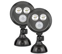 LED Scheinwerfer MB390 ultrahell mit Bewegungsmelder, 2er Pack