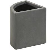 Leichtbeton-Ecktopf, grau