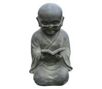 Leichtbeton-Mönch mit Buch für den Garten