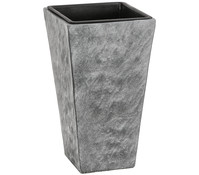 Leichtbeton-Topf, grau, 28 x 28 x 50 cm