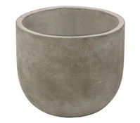 Leichtbeton-Topf, grau