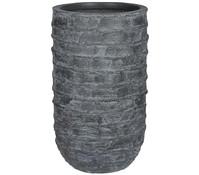 Leichtbeton-Vase, rund
