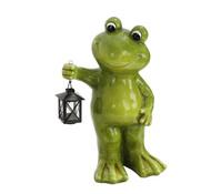 Magnesia-Frosch stehend mit Laterne, grün
