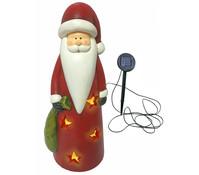 Magnesia-Weihnachtsmann mit Solarlicht, 18 x 17 x 40 cm