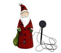 Magnesia-Weihnachtsmann mit Solarlicht, 24 x 18 x 51 cm