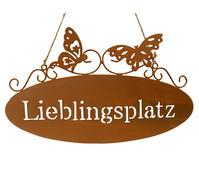 Metall-Gartenschild Lieblingsplatz