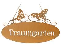 Metall-Gartenschild Traumgarten