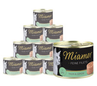 Miamor feine Filets, Nassfutter, 12 x 185 g