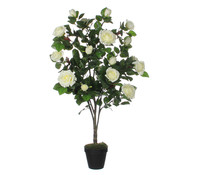 Mica Kunstpflanze Rose creme, 120 cm