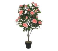 Mica Kunstpflanze Rose rosa, 120 cm