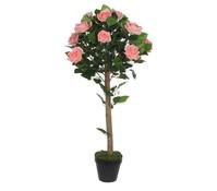 Mica Kunstpflanze Rose Topiara rosa
