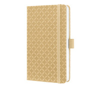 Notizbuch Jolie sand brown, 15 x 9,5 x 1,6 cm