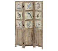 Paravent Vogel 120 x 2 x 180 cm, 3-teilig