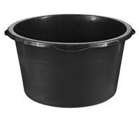 PE-Becken für den Außenbereich, rund, schwarz