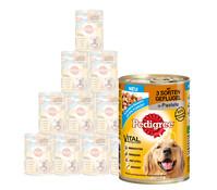 Pedigree® Adult 3 Sorten Geflügel, Nassfutter, 12 x 400g