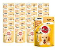 Pedigree Junior Vital Protection, Huhn & Reis, Nassfutter, 24 x 100g