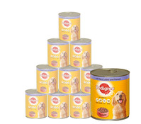 Pedigree® Pasteten, Nassfutter, 12x800g