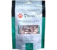 Perrito Chicken & Pollock Sandwich Triangle, Katzen-/Hundesnack, 100g