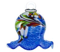 Polczer Glas-Miniglocke, blau, Ø 12 cm