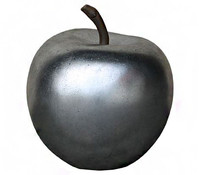 Polyresin-Apfel, silber