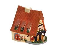 Porzellan Windlicht Haus Alte Schmiede Rothenburg, 17 x 18 x 15 cm