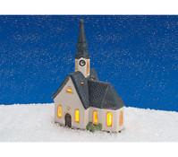 Porzellan-Windlicht Kirche in Bayern, 20 cmhoch