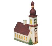 Porzellan Windlicht Kirche in Bayern, 29 x 21 x 8 cm