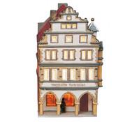 Porzellan Windlicht Münster/Prinzipalmarkt, 21 x 13 x 10 cm