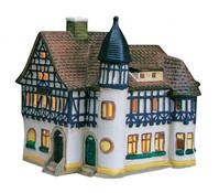 Porzellan Windlicht Post Bad Liebenstein/Thüringen, 17x15x12 cm