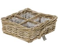 Rattan-Kräuterkorb, braun