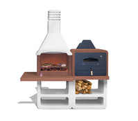 Sarom Gartenkamin- und Ofen-Kombination Portofino