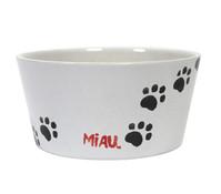 Schale Miau, für Katzengras, weiß, Ø 19 cm