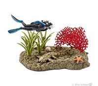 Schleich Taucher im Korallenriff