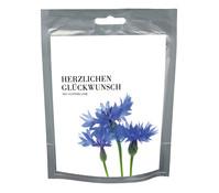 seeds&WISHES Kornblume 'Herzlichen Glückwunsch'