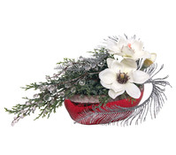 Seidenblumen-Arrangement Magnolie
