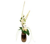 Seidenblumen-Arrangement Orchidee/ Beeren in einer Vase