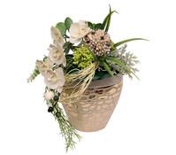 Seidenblumen-Arrangement Orchidee in einer Vase