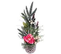 Seidenblumen-Arrangement Päonie im Topf