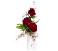 Seidenblumen-Gesteck Rosen in einer Vase