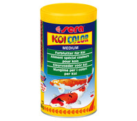 sera KOI Color Medium, Teichfischfutter, 1 l