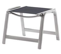 Sieger Montesa Hocker, Aluminium/Textilux, 56x57x44 cm