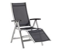 Sieger Montesa Relaxliege, Aluminium/Textilux, 93 x 63 x 109 cm