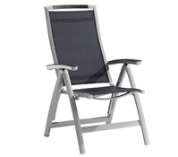 Sieger Trento Klappsessel, Aluminium/Textilux, 74x64x113 cm