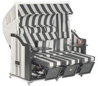 Sonnenpartner Strandkorb Classic, 3-Sitzer, Halbliegemodell