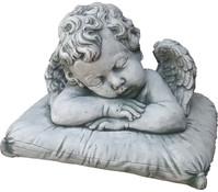 Stein-Engel auf Kissen, 20 x 32 x 25cm