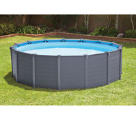 Steinbach Frame Pool Set Graphit, Ø 478 x 124 cm