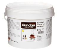 Sunday Putzfarbe für Gartenkamine, weiß, 5 kg