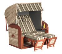 Sunny Smart Strandkorb Rustikal 300 Z, antik-weiß